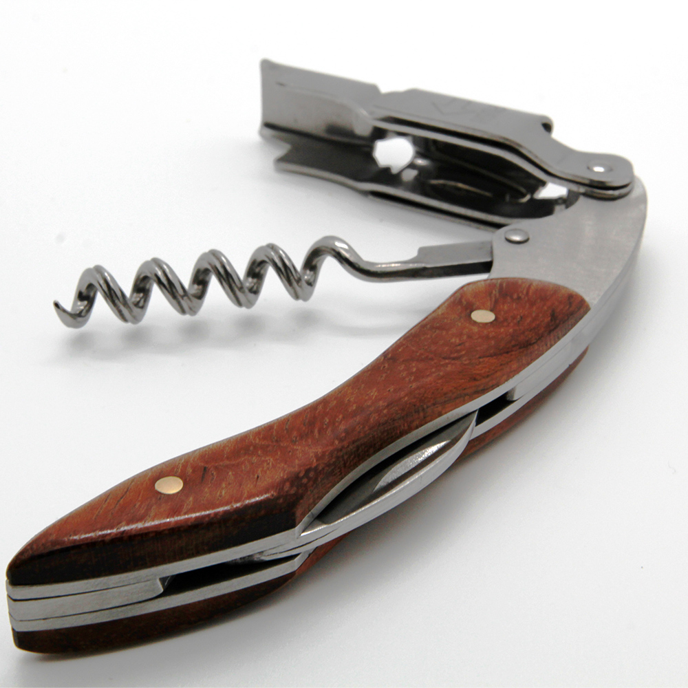 Wooden Stainless steel Corkscrew