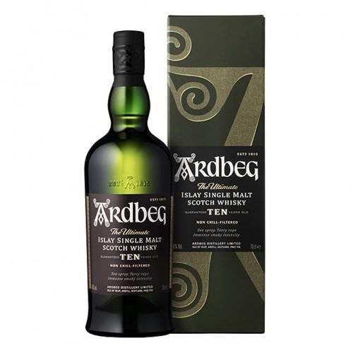 Ardbeg 10 Years Islay Single Malt Scotch Whisky, 700ml