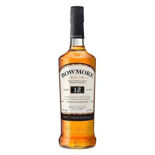 Bowmore Aged 12 Years Islay Single Malt Scotch Whisky, 700ml