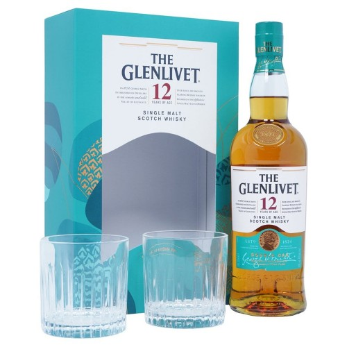 The Glenlivet 12 Years Old Single Malt Whisky 700ml Gift Set