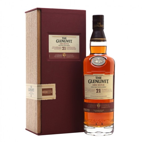 The Glenlivet 21 Years Old Archive Single Malt Scotch Whisky 700ml Wooden Box