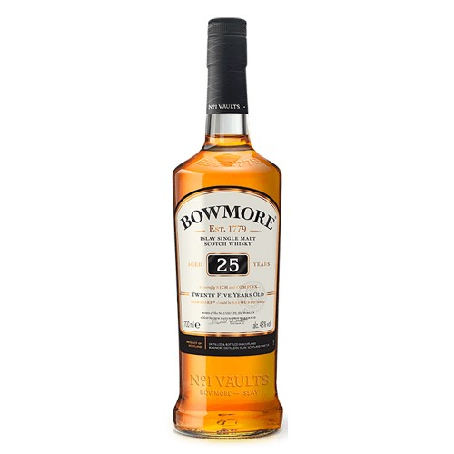 Bowmore Aged 25 Years Islay Single Malt Scotch Whisky, 700ml