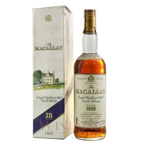 1968 The Macallan 18 Year Old Sherry Oak Single Malt Scotch Whisky 700ml