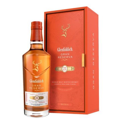 Glenfiddich 21 Year Old Reserva Rum Cask Finish Whisky 700ml