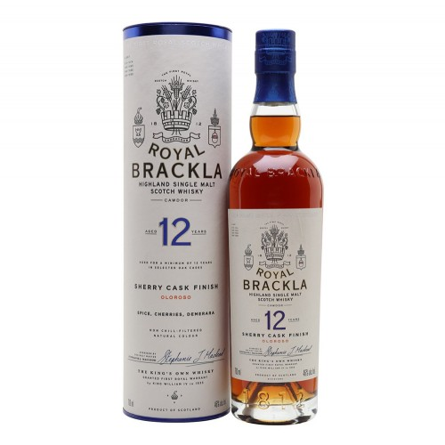 Royal Brackla 12 Year Old Oloroso Sherry Cask Finish Whisky 700ml