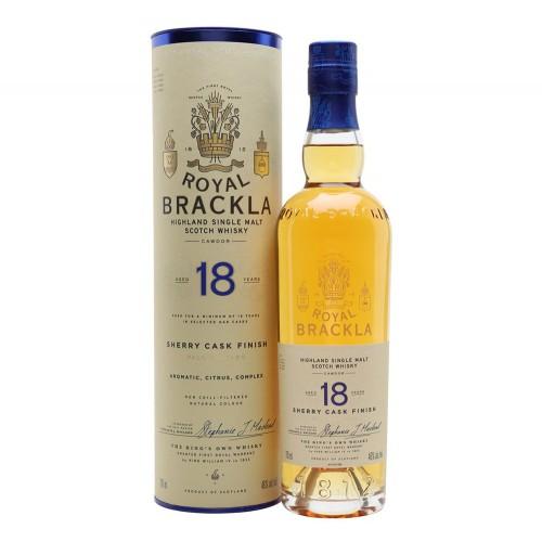 Royal Brackla 18 Year Old Palo Cortado Sherry Cask Finish Whisky 700ml