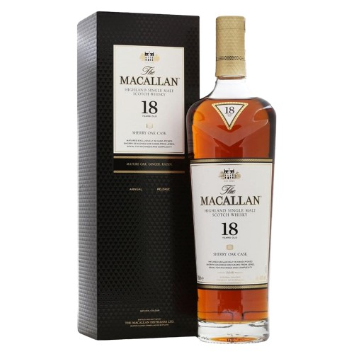 The Macallan 18 Years Old Sherry Cask Single Malt Whisky 700ml  (2019 Release)