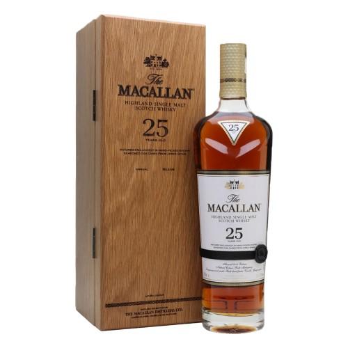 The Macallan 25 Years Old Sherry Oak Single Malt Whisky 700ml(2020 Release)