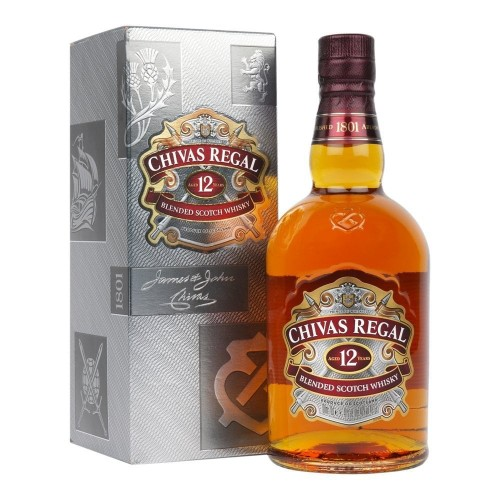 Chivas Regal 12 Years Old Blended Scotch Whisky, 700ml (With gift box)