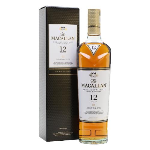 The Macallan 12 Years Old Sherry Oak Single Malt Whisky 700ml