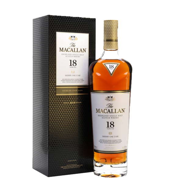 The Macallan 18 Years Old Sherry Cask Single Malt Whisky 700ml  (2020 Release)